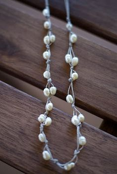 freshwater pearls and silk thread knotted- for necklaces and bracelets- nice, delicate but also casual