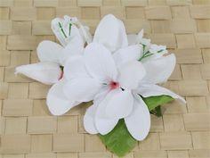 Plumeria Clip [White] - Hair Clip & Hair Pick - Hula Supply   AlohaOutlet SelectShop Hawaiian Leis, Polynesian Dance, Head Accessories, Luau Party, Floral Hair, Island Weddings, Hula, White Hair, Diy Wedding