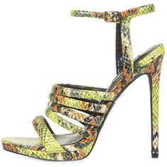 TOPSHOP RAMONA Snake-Effect Strappy Sandals ($77) ❤ liked on Polyvore