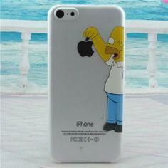 Simpson transparent hard plastic Mobile Phone Case for iPhone 4 4s 5 5s SE 6/6s…
