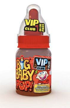 Feeding time. Big Baby Pop - a childhood favourite - with fizzy sherbet dip and flavoured lolly.