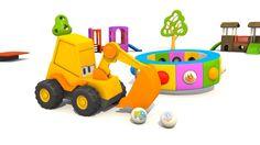 Cartoni animati per bambini - L'escavatore Max e le scarpe