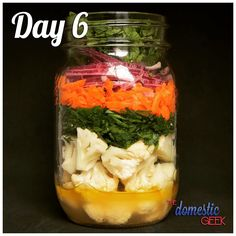 Day 6 - Cauliflower Salad 2 tbsp white wine vinaigrette http://bit.ly/12Dressings 1 cup cauliflower florets, raw or steamed 1 carrot, shredded ¼ small red onion, finely diced 2 tbsp fresh parsley, finely chopped 1 tsp fresh mint, finely chopped