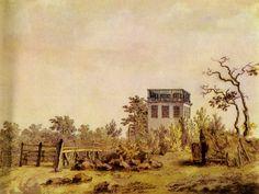 Landscape with Pavilion - Caspar David Friedrich