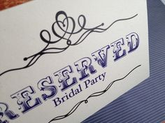 Rosewood Reserved Sign with Flourishes via With Luv Design wedding