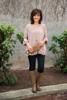 Fashionable over 50 fall outfits ideas 62