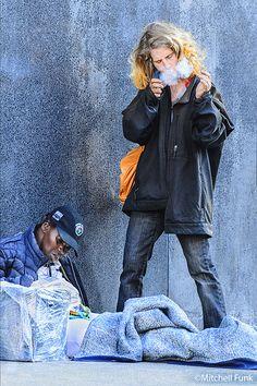 Puff Of Smoke Homeless Women In The Tenderloin, San Francisco By Mitchell Funk  www.mitchellfunk.com
