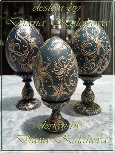 Декор предметов Пасха Роспись Яйца пасхальные - ручная роспись Краска фото 3