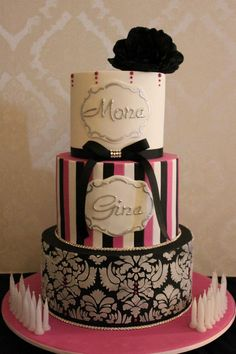 Twins Birthday Cake by Cake Appreciation Society Member Couture Cakes - See NSW Directory Listing at www.cakeappreciat...