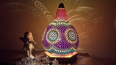 FREE SHIPPING Authentic Gourd Lamp Unique Gift -Lampe de Zucca Kalabasse Lamp Kürbislamp by GourdLampCollection on Etsy