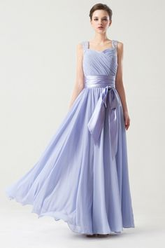 elegant chiffon bridesmaid dress