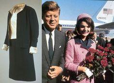 FASHION LIKE: primeira-dama Jackie Kennedy. Capítulo IEsquerda: paletó Coco Chanel , Jackie levou-o em 12 março de 1963, durante uma visita à Casa Branca com líderes do Teatro Nacional americano. À direita, também a partir de Coco Chanel , vestido rosa que Jacqueline Kennedy usava jaqueta em Dallas no dia em que matou o marido. Ele já tinha tomado semanas antes de um outro ato, mas sem chapéu.