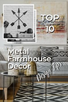 There's a reason why so many of us fall in love with farmhouse style decor. Its unique take on comfort and simplicity creates a homey feeling in your home that attracts so many. Even if you've never set foot on a farm, it's sure to make you feel at home.  Decorating your home in the farmhouse style will most certainly involve rustic wood elements, as well as metal. And when it comes to farmhouse, the more rustic the better.  Rustic Wall Clocks, Rustic Walls, Rustic Wall Decor, Metal Wall Decor, Rustic Wood, Farmhouse Style Decorating, Decorating Your Home, Farmhouse Decor, Faux Wood Beams