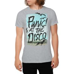 Panic! At The Disco Bats T-Shirt | Hot Topic ($14) ❤ liked on Polyvore featuring tops, t-shirts, shirts, hot topic tee, shirt top, disco t shirt, tee-shirt and heather gray t shirt