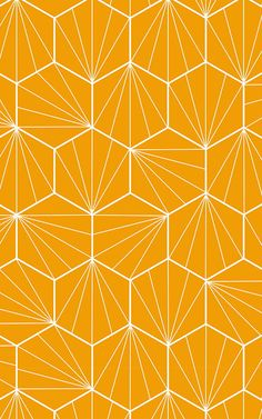 Create a bold dynamic in your space that's inspired by iconic Art Deco shapes with this Orange Hexagon Shape Geometric Wallpaper Mural. Wallpaper Art Deco, Geometric Wallpaper Murals, Bright Wallpaper, Luxury Wallpaper, Hexagon Pattern, Hexagon Shape, Deco Orange, Style Année 20, Art Deco Bedroom