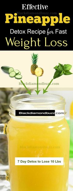 Pineapple for Weight Loss - Pineapple Juice Detox Diet Drink Recipe for Burning Fat. #weightloss #pineapplediet #health