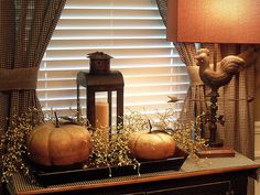 Pumpkins with lantern