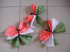 Uae National Day, Diy And Crafts, Crafts For Kids, Tissue Paper Flowers, Republic Day, Motor Activities, Classroom Decor, Origami, Kindergarten