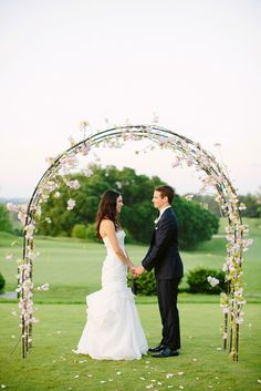 Pretty garden wedding arch