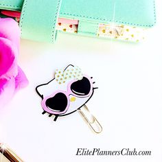Hello Kitty. planner paperclips to add a dash of cuteness to you planner pockets eliteplannersclub.com