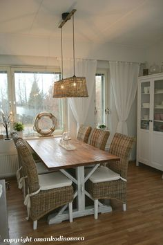 Keittiömme ❤ Our kitchen ❤ Coastal Style, Dining Bench, Rustic, Kitchen, Room, Furniture, Home Decor, Country Primitive, Bedroom