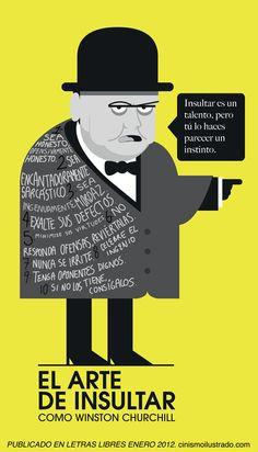 El arte de insultar como Winston Churchill #infografia WOW WOW WOW...