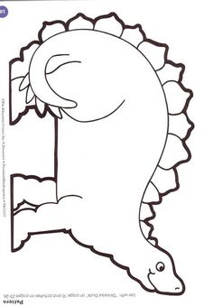 Dinosaur Pattern; great to shrink size for preschool name tags for taking attendance & for the children to learn their name (during the preschool themed unit).