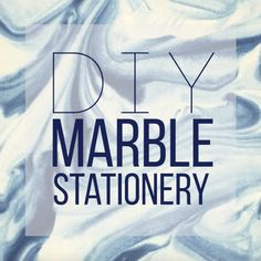 Get Ready To Have Your Mind Blown With These DIY Marble Stationeries