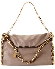 Stella McCartney 'Falabella' Shaggy Deer Fold-Over Tote
