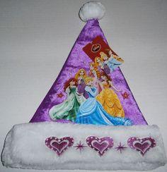 Other Christmas & Winter Décor Disney Princesses, Santa Hat, Christmas Ornaments, Holiday Decor, Winter, Hats, Winter Time, Hat, Christmas Jewelry