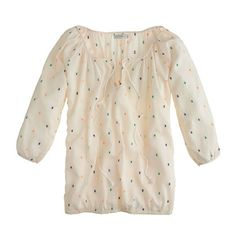 Chambray dot peasant top (on sale now, ivory is only one left, but it's v. pretty)