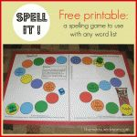 printable spelling game for any list the measured mom 150x150 Teaching Spelling