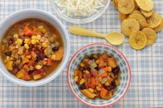 Lately, I've been trying a new family dinner method. I cook a double batch  of a soup and have it for dinner that night, and then freeze the rest and  have it the following week. This Big Batch Veggie Chili, which is so super  simple, is one of our new favorites for this cook once, eat twice idea