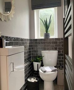 Small Toilet Design, Small Toilet Room, Guest Toilet, Bathroom Design Small, Modern Bathroom, Comfort Room Tiles Small Bathrooms, Designs For Small Bathrooms, Modern Small Bathrooms, Cloakroom Toilet Downstairs Loo
