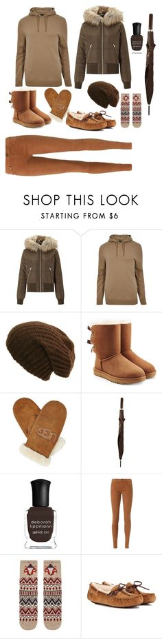 """""""#sweaterweather #contest"""" by brooklynqueen04 ❤ liked on Polyvore featuring Miss Selfridge, River Island, UGG, Chanel, Deborah Lippmann, AG Adriano Goldschmied, Accessorize, contest and sweaterweather"""