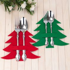 silverware holder green laser pine tree felt etsy cut 708 18 cm Green laser cut pine tree felt silverware holder 18 cm 708 EtsyYou can find ideas para navidad and more on our website Dollar Store Christmas, Felt Christmas, Homemade Christmas, Simple Christmas, Christmas Holidays, Christmas Decorations, Christmas Ornaments, Christmas Trees, Christmas Fabric