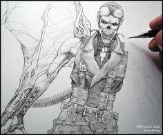"5,284 Me gusta, 25 comentarios - Andy Brase (@andybrase_art) en Instagram: ""Blood Pilot: WIP pencil detail (tbt) Vampire concept design for DC Originally for a toy design…"""