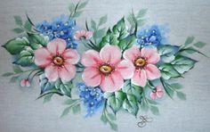 Pinturas de rosas en tecido - Imagui                              …