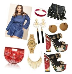 """""""Curvy part 2"""" by bianca-lynn on Polyvore featuring FAUSTO PUGLISI, Cult Gaia, GUESS by Marciano, Givenchy, Kenneth Jay Lane, Yves Saint Laurent, Rolex and WithChic"""