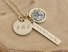 Gold Personalized Family Tree Necklace With by 2sistershandcrafted