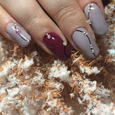 @prohesion #sculptedextensions with Hand & Nail Harmony #lookingforawingman and #ruletherunway with Swarovski crystals from NailHarmonyUK/Gelish