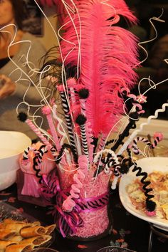 centerpiece you can use, pipe cleaners, feathers and so forth