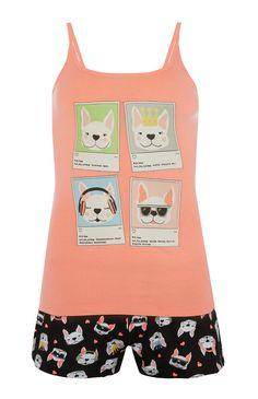 Primark - Orange Black Pyjama Set