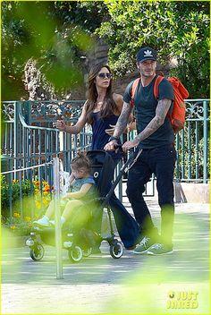 Celeb Diary: David Beckham & Victoria Beckham @ Disneyland in Anaheim, California