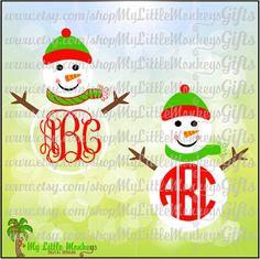 Snowman Monogram Base Designs Digital by MyLittleMonkeysGifts