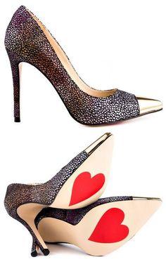 Luichinys Multi Color Dear Love Blk Grey Fabric Design works No.401 |2013 Fashion High Heels|