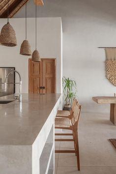 Boho Kitchen, Home Decor Kitchen, Kitchen Interior, Home Interior Design, Home Kitchens, Earthy Kitchen, Teak Wood, Kitchen Remodel, Sweet Home