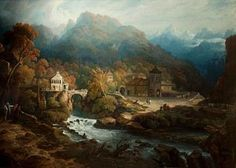Architecture Painting - The Mountains Of Vietri by Philip Reinagle