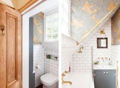 O uso dos materiais naturais e de ótima qualidade trouxe a sensação de bem-estar ao ambiente, enquanto o papel de parede foi essencial para refletir a personalidade da família.