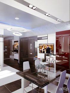 кухня в современном стиле в Ялте от Vitta-group: интерьер, квартира, дом, гостиная, минимализм, 30 - 50 м2 #interiordesign #apartment #house #livingroom #lounge #drawingroom #parlor #salon #keepingroom #sittingroom #receptionroom #parlour #minimalism #30_50m2 arXip.com